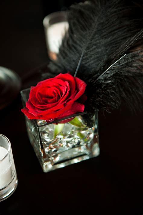 Wedding Centerpiece Singe Red Rose Kind Of Like The