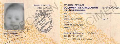 Renouvellement Titre De Sejour Parent D Un Français by Document De Circulation Pour 233 Tranger Mineur Dcem Et