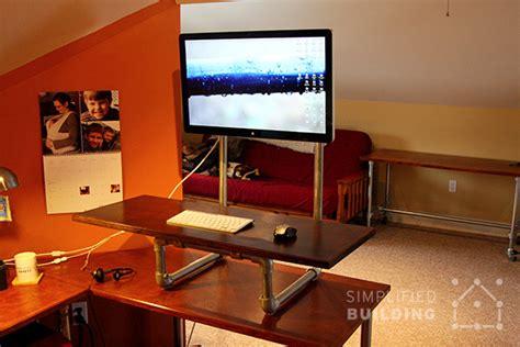 diy standing desk converter step  step plans