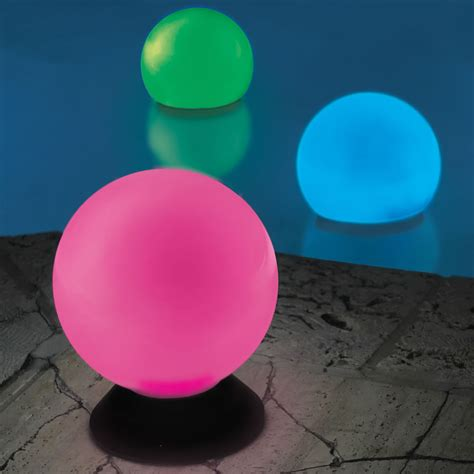 light up orbs for pool the place anywhere solar orb light hammacher schlemmer
