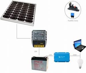 Kit Panneau Solaire Autoconsommation : kit solaire 50w 12v 230v pour site isol ~ Premium-room.com Idées de Décoration