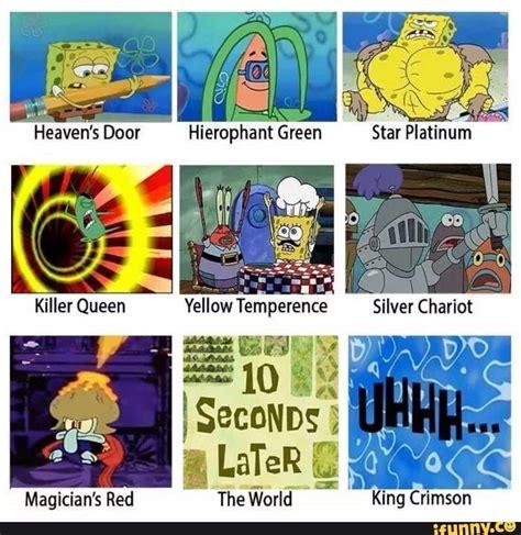 Spongebob Jojo Memes - some more spongebob jojo memes anime amino