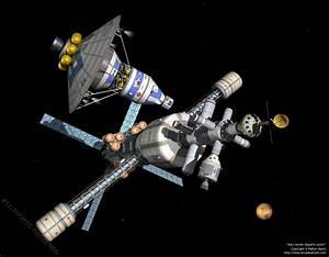 Space Exploration - Mars lander departs cycler (1280)