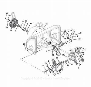 Ariens 921046  000101 -   Deluxe 28 Parts Diagram For Auger And Impeller