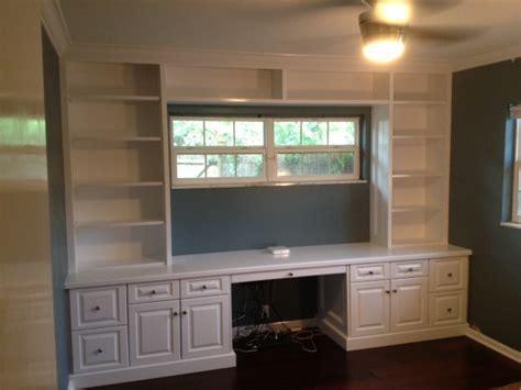 Tampa, Florida Custom Carpentry Work: Built in Bookcase