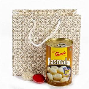 Indian Sweets Rasmalai With Tikka For Bhai Dhooj India