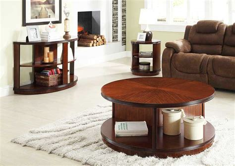 The Round Coffee Tables with Storage ? the Simple and Compact Furniture that Looks Adorable