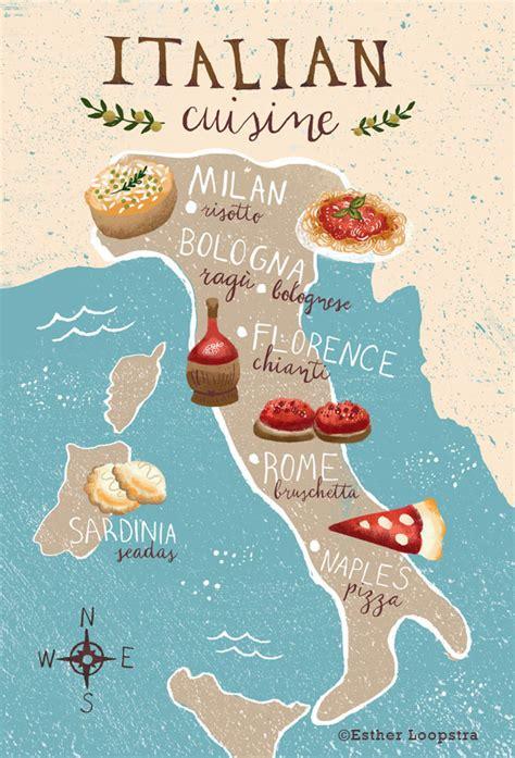 italie cuisine cuisine of italy map on behance