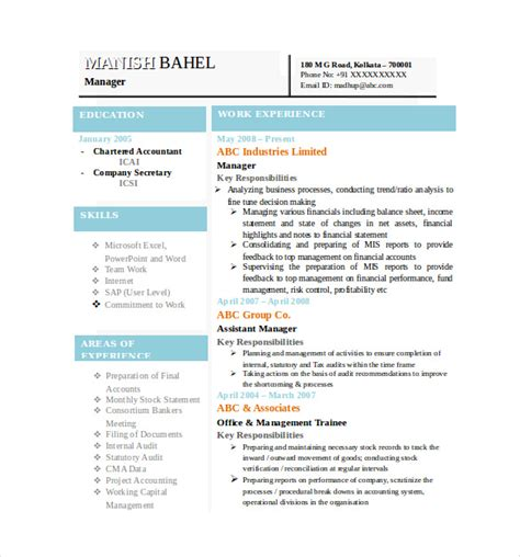 Resume Layout Word by Best Resume Formats 40 Free Sles Exles Format