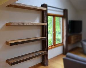 Hand, Made, Rustic, Floating, Shelves, By, Abodeacious