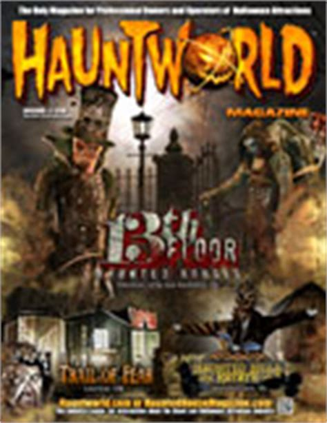 haunted house and halloween magazine for professional