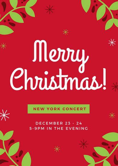 customize  christmas flyer templates  canva