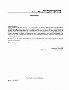 cover letter for job application email sample for freshers With best cover letter samples for job application