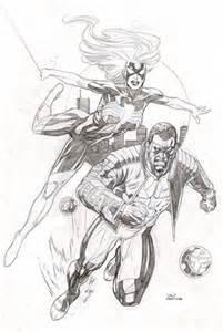 Superhero Pencil Sketch Drawings