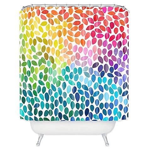 colorful shower curtains buy deny designs garima dhawan 11 shower curtain in