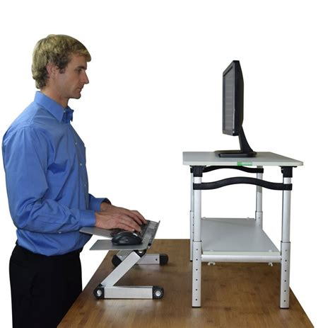 computer keyboard stand for desk lift monitor stand w keyboard mouse tray