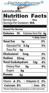 nutrition facts label popular chain restaurants 36 With coffee nutrition label