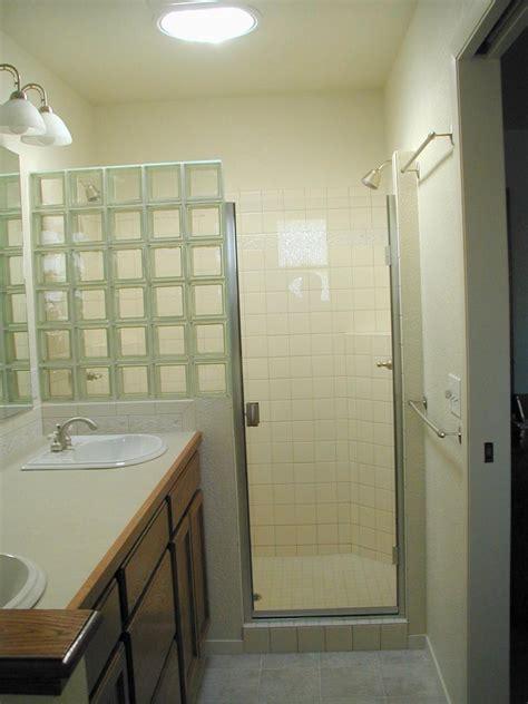 shower stall  glass blocks
