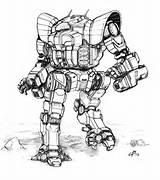 Thug Tro Guillotine Battletech Robot Mech Mwo Micro Deviantart Concept War sketch template