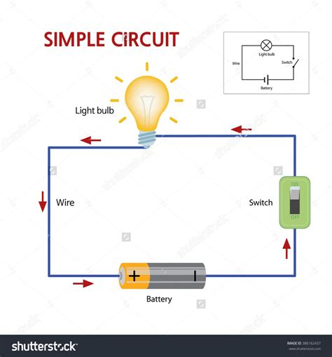 circuit with a switch wiring diagram components