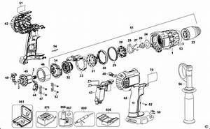 Spares For Dewalt Dcd950 Hammer Drill  Type 1  Spare