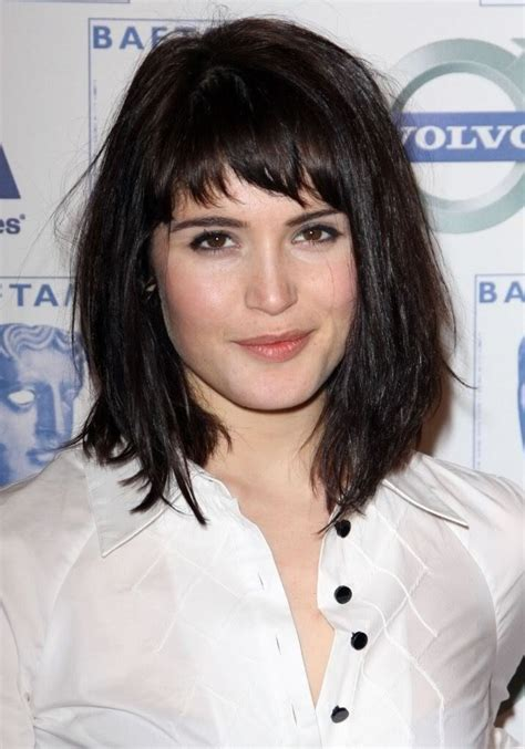 lob bob haircut with side swept bangs hairstylegalleries