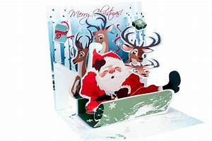 Pop Up Karte Weihnachten : pop up 3d weihnachten karte popshot nikolaus schlittenfahren 13x13 cm 507450 ~ Buech-reservation.com Haus und Dekorationen