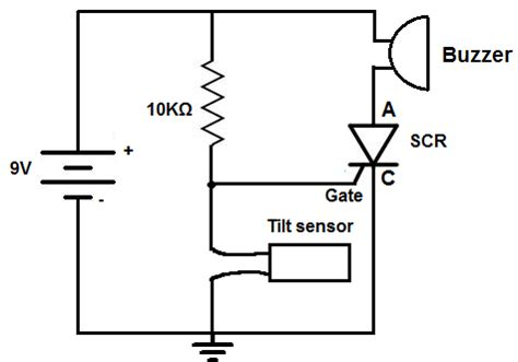 How Build Tilt Alarm Circuit