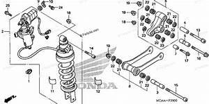Honda Motorcycle 2008 Oem Parts Diagram For Rear Shock Absorber