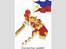 Vector Clipart of image map of Philippines three