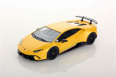 yellow lamborghini lamborghini huracan performante 1 43 looksmart models