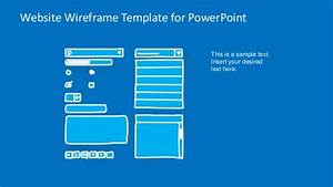 slidemodelcom website wireframe powerpoint template With powerpoint sitemap template