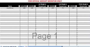 Biggest Loser Spreadsheet Biggest Loser Excel Spreadsheet