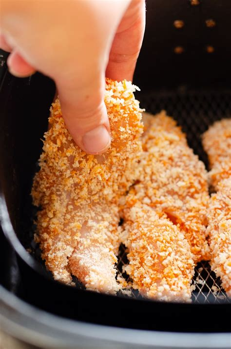 fryer chicken air tenders buffalo recipe carb low recipes thecreativebite healthy airfryer panko simple bread delicious perfect breading