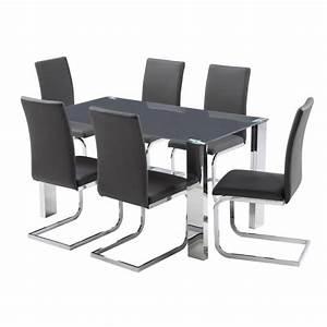 Chaise Table A Manger : table a manger 6 chaises maison design ~ Teatrodelosmanantiales.com Idées de Décoration