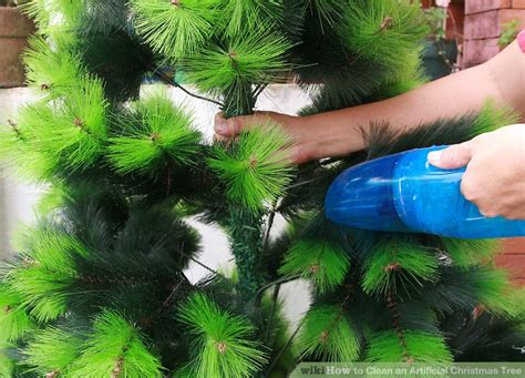how to dismantle a christmas tree 3 ways to clean an artificial tree wikihow
