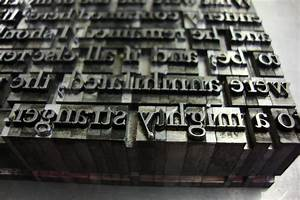 letterpress printing pages With press type lettering