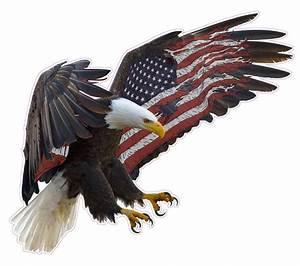 American Eagle American Flag Wall Decor - Nostalgia Decals