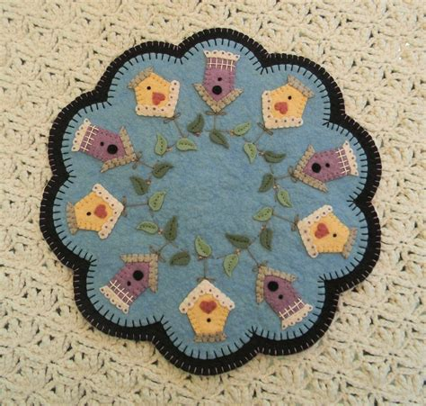 candle mat kit rug kit wool felt kit summer rental