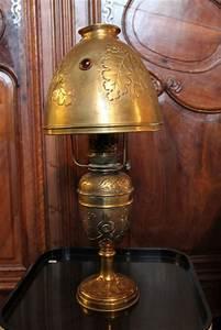 Lampe En Cuivre : lampe 1900 en cuivre puces d 39 oc ~ Carolinahurricanesstore.com Idées de Décoration