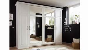Kleiderschrank Weiß Landhaus : kleiderschrank landhaus kalas kiefer massiv wei spiegel ~ Frokenaadalensverden.com Haus und Dekorationen