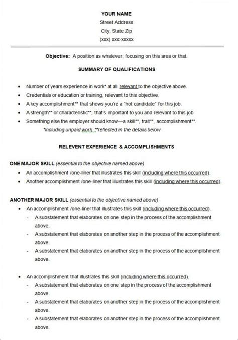 functional resume template shatterlioninfo