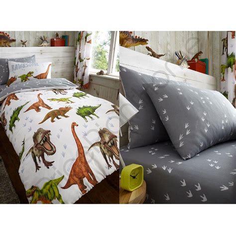 rawrsome dinosaur  rex duvet cover fitted sheet bedding