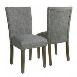 homepop classic parsons chair with nailhead trim slate