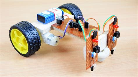 How Make Line Following Robot Without Microcontroller