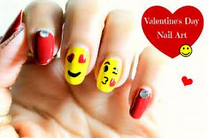 Emoji nail art valentine s day design tutorial