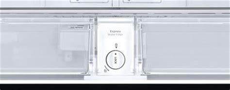 replace  reset  water filter    door flex refrigerator