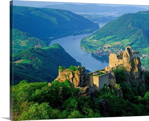 Order now with free shipping, free installation & cod Austria, Wachau, Aggstein castle on Danube river Wall Art, Canvas Prints, Framed Prints, Wall ...