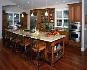 traditional kitchens kitchenscom With open floor plan kitchen design