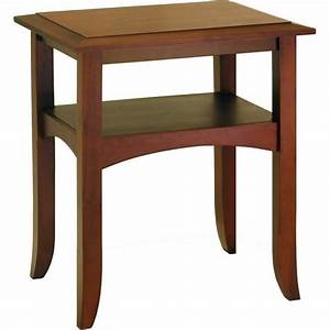 Winsome Pine Wood Antique Walnut End Table eBay